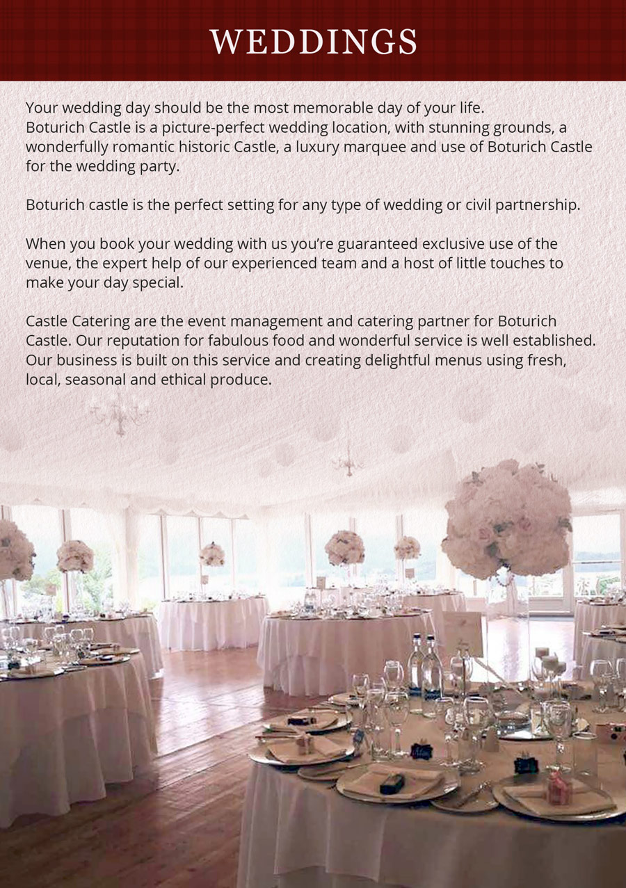 Wedding Brochure - What to expact from a Scottish wedding in a castle