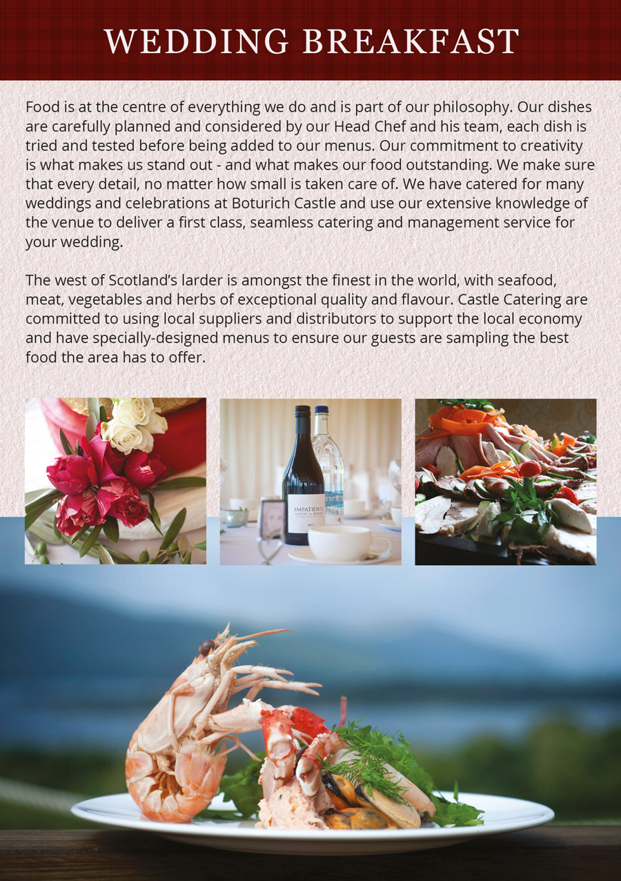 Wedding Brochure - The importance of catering as the centre of entertainment