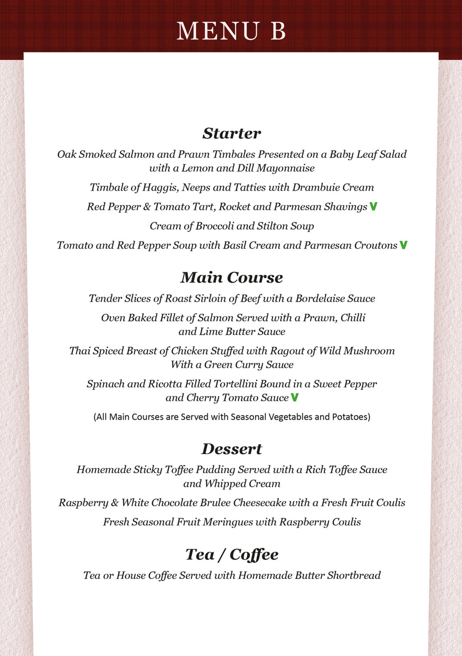 Wedding Brochure -  Food Menu B